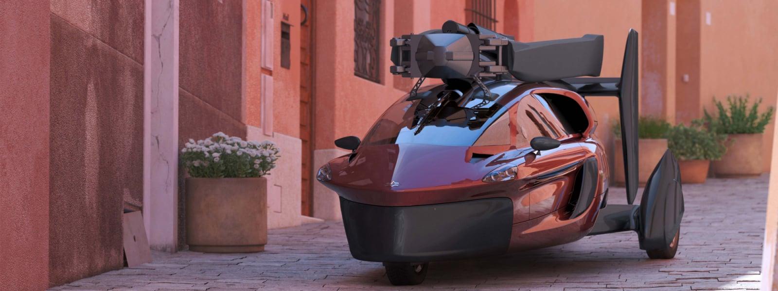 Pal V Flying Car Rome Street 3