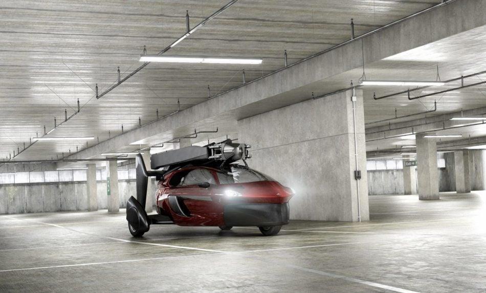 PAL-V parked in garage
